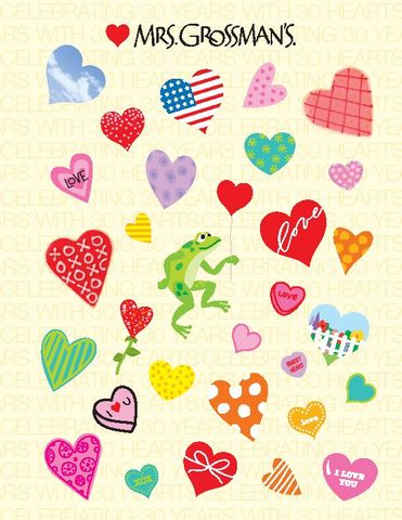 30th anniversary heart stickers